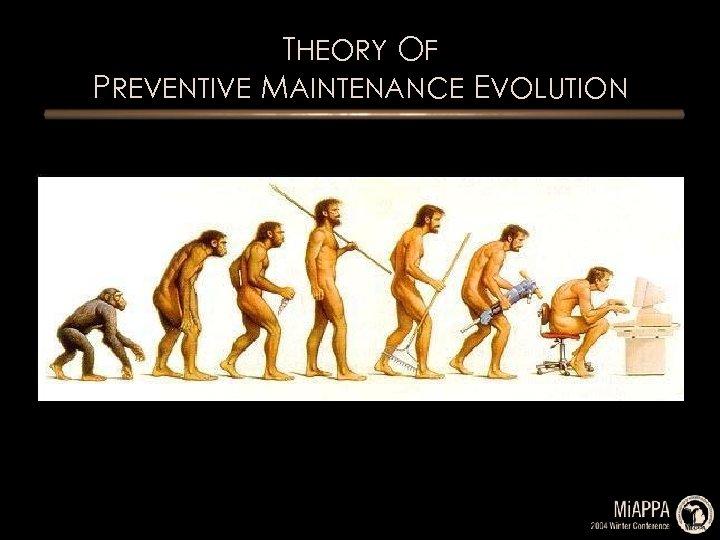 THEORY OF PREVENTIVE MAINTENANCE EVOLUTION
