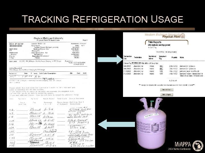 TRACKING REFRIGERATION USAGE