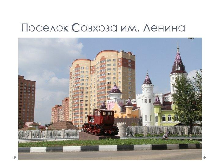 Поселок Совхоза им. Ленина
