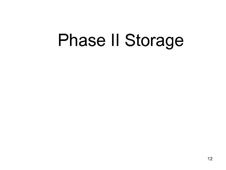 Phase II Storage 12