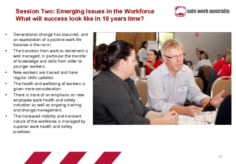 Session Two: Emerging Issues in the Workforce What will success look like in 10