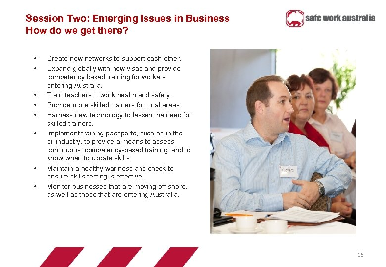 Session Two: Emerging Issues in Business How do we get there? • • Create