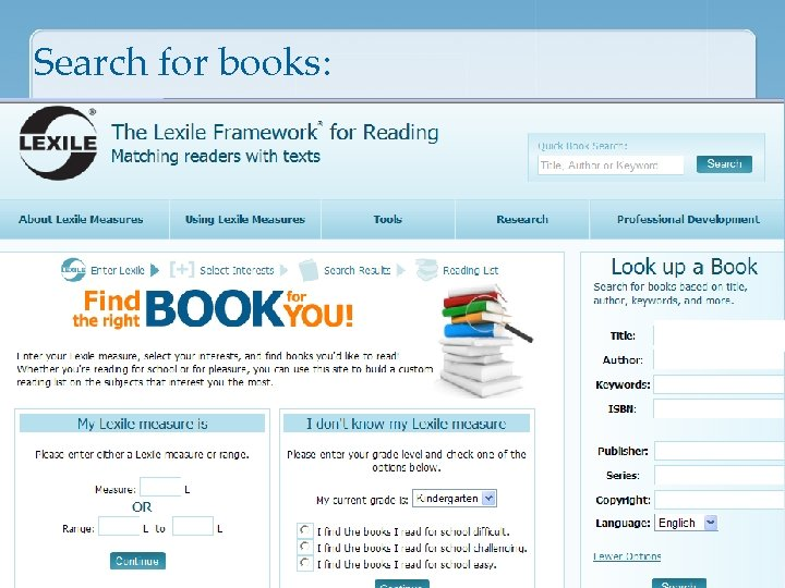 Search for books: