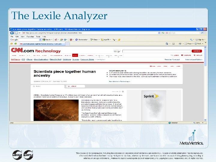 The Lexile Analyzer