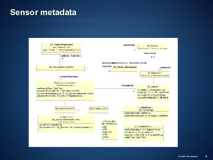 Sensor metadata UC 2007 Tech Sessions 48