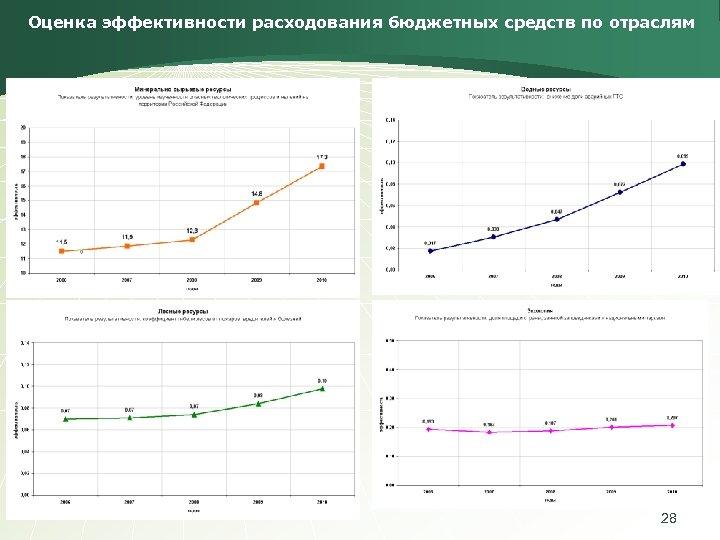 Оценка эффективности расходования бюджетных средств по отраслям 28