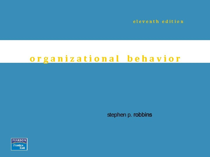 eleventh edition organizational behavior