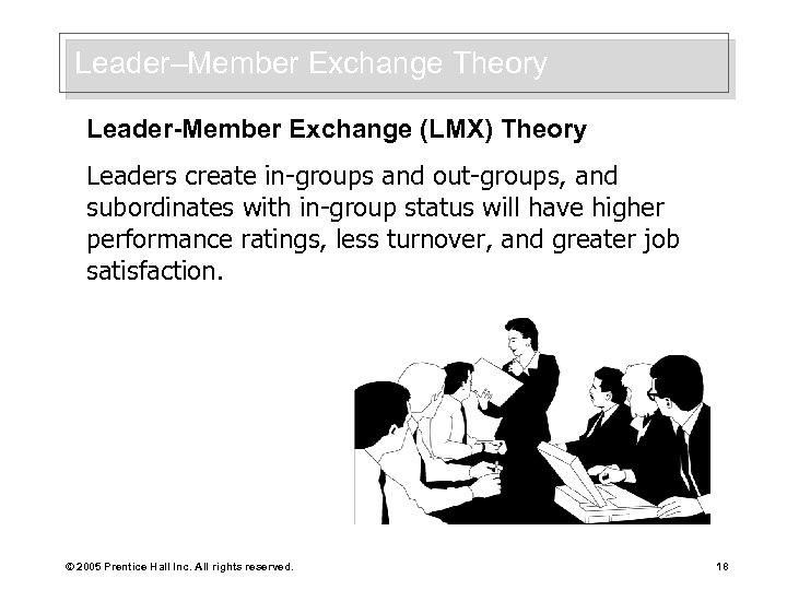 Leader–Member Exchange Theory Leader-Member Exchange (LMX) Theory Leaders create in-groups and out-groups, and subordinates