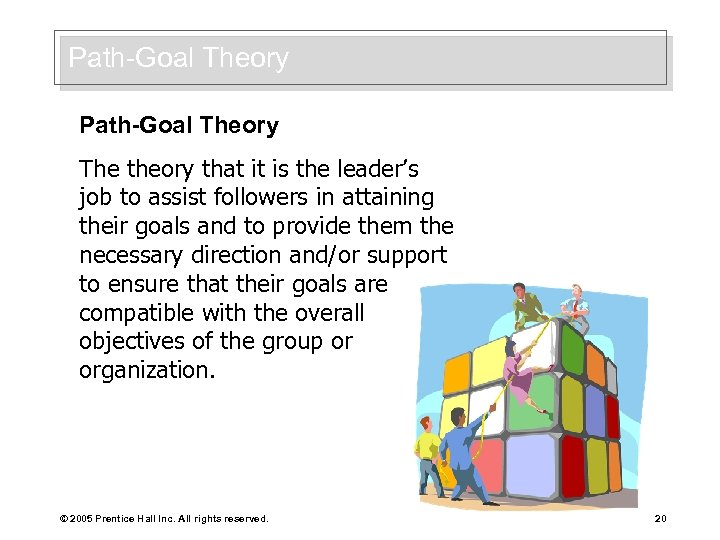 Path-Goal Theory The theory that it is the leader's job to assist followers in