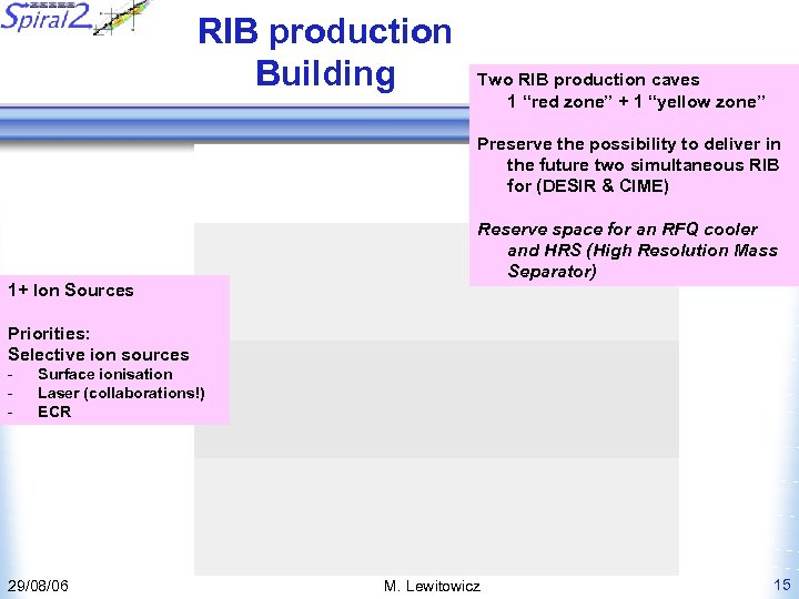 """RIB production Building Two RIB production caves 1 """"red zone"""" + 1 """"yellow zone"""""""