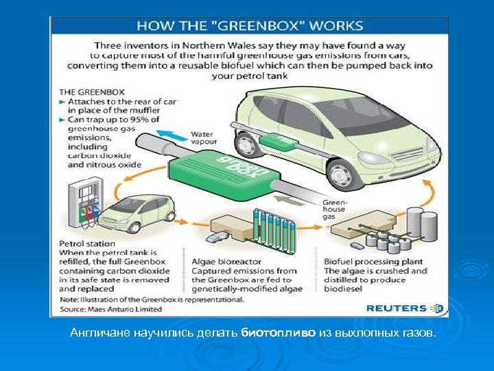 Англичане научились делать биотопливо из выхлопных газов.