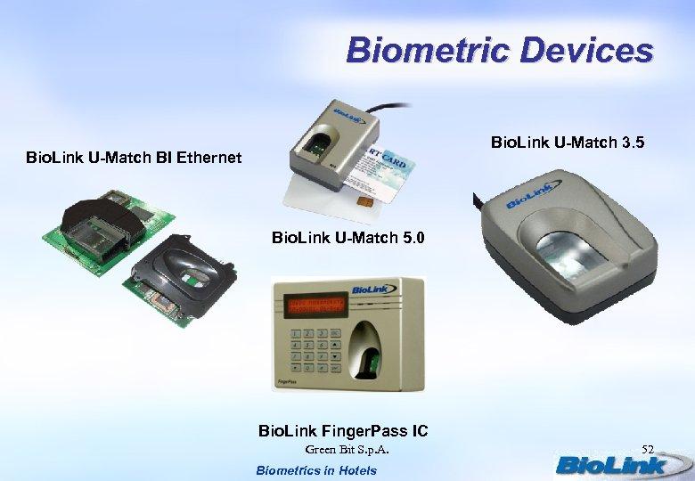 Biometric Devices Bio. Link U-Match 3. 5 Bio. Link U-Match BI Ethernet Bio. Link