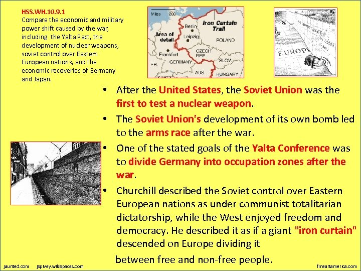 HSS. WH. 10. 9. 1 Compare the economic and military power shift caused by