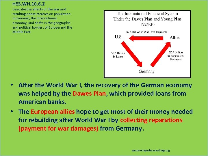 HSS. WH. 10. 6. 2 Describe the effects of the war and resulting peace