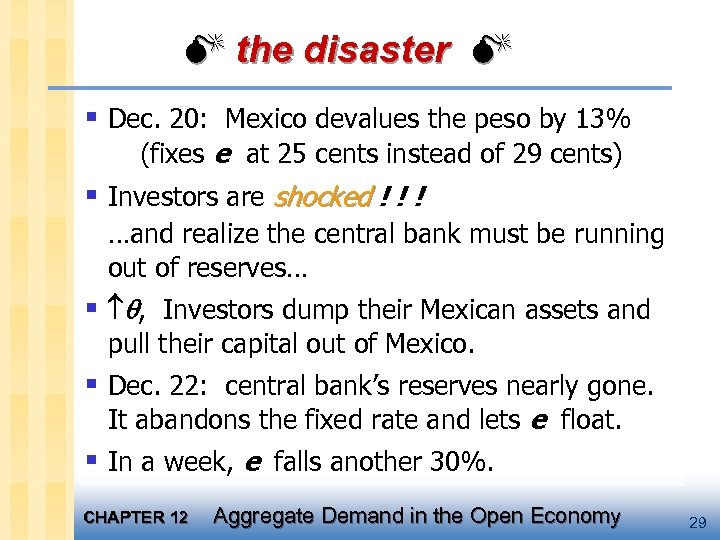 the disaster § Dec. 20: Mexico devalues the peso by 13% (fixes e