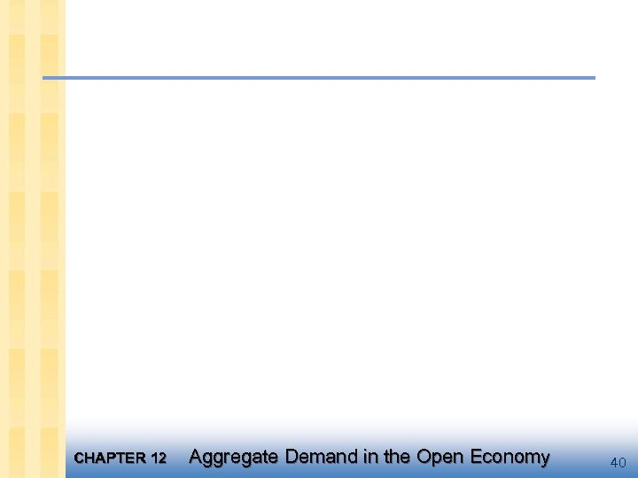 CHAPTER 12 Aggregate Demand in the Open Economy 40
