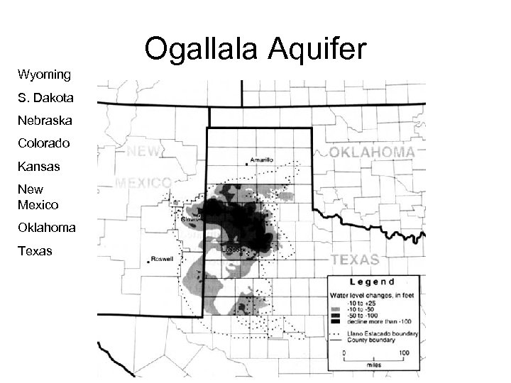 Ogallala Aquifer Wyoming S. Dakota Nebraska Colorado Kansas New Mexico Oklahoma Texas