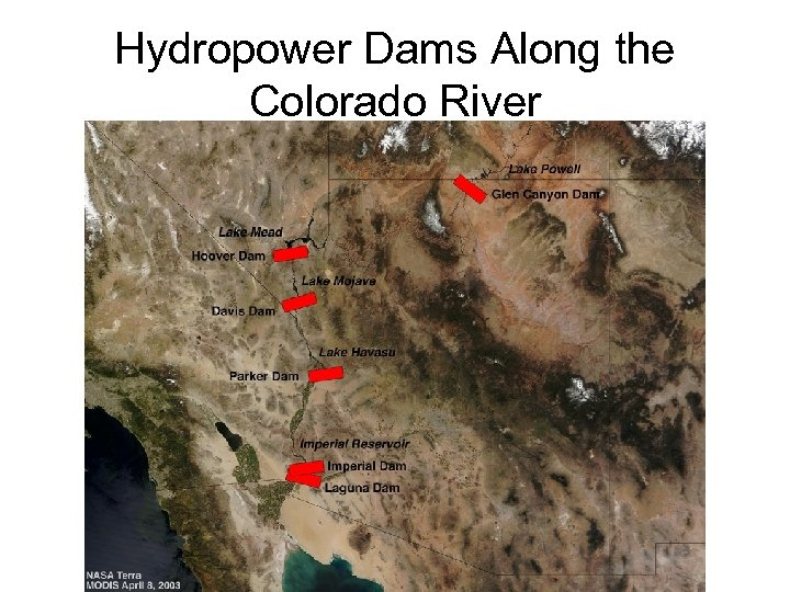 Hydropower Dams Along the Colorado River