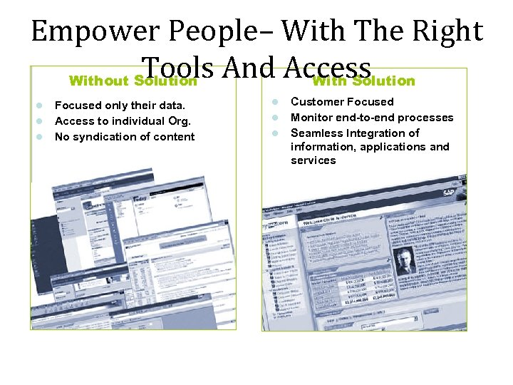 Empower People– With The Right Tools And Access Without Solution With Solution Focused only