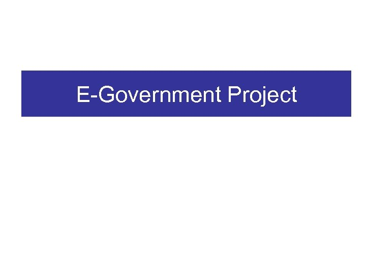 E-Government Project