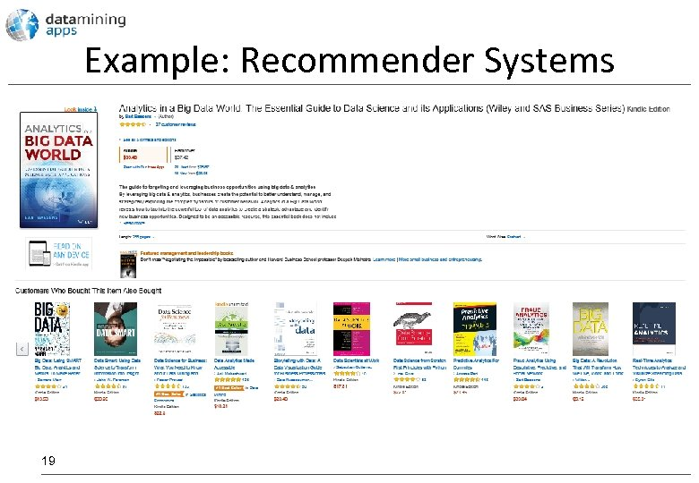 Example: Recommender Systems 19