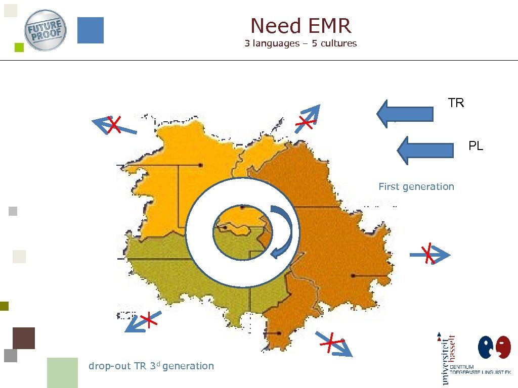 Need EMR 3 languages – 5 cultures TR PL First generation drop-out TR 3