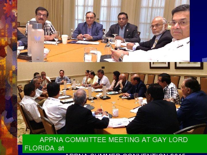 APPNA COMMITTEE MEETING AT GAY LORD FLORIDA at