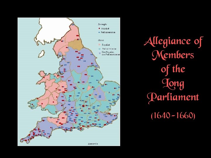 Allegiance of Members of the Long Parliament (1640 -1660)