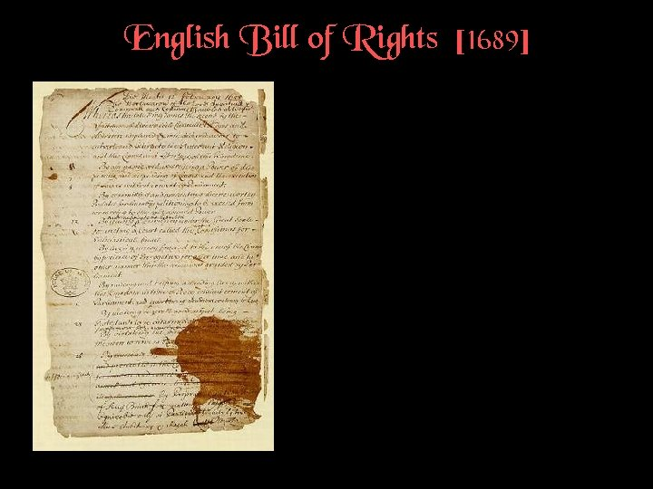 English Bill of Rights [1689]