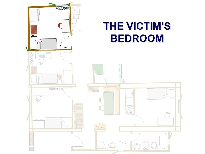 THE VICTIM'S BEDROOM