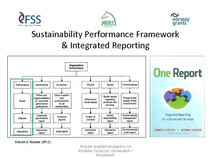 Sustainability Performance Framework & Integrated Reporting Brocett & Rezaee (2012) Projekt współfinansowany ze środków