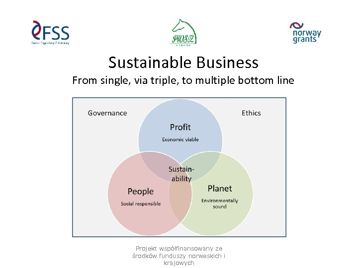 Sustainable Business From single, via triple, to multiple bottom line Projekt współfinansowany ze środków