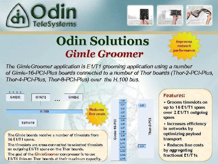 Odin Solutions Gimle Groomer Improves network performance The Gimle. Groomer application is E 1/T
