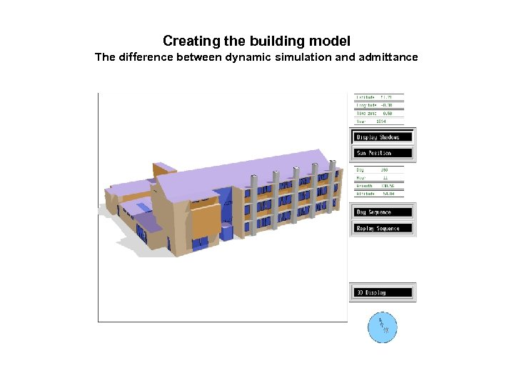 Creating the building model The difference between dynamic simulation and admittance