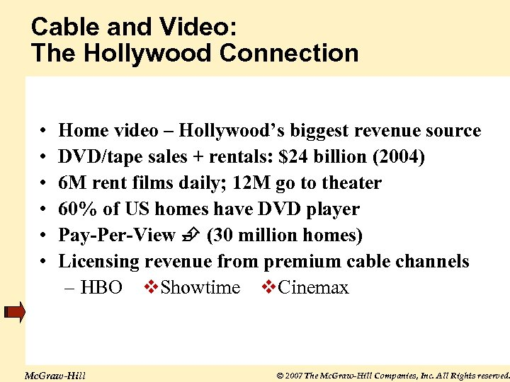 Cable and Video: The Hollywood Connection • • • Home video – Hollywood's biggest