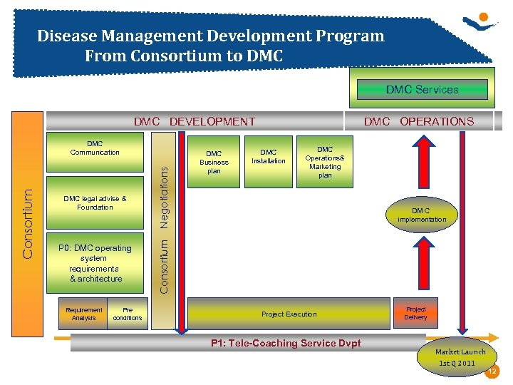 Disease Management Development Program From Consortium to DMC Services DMC DEVELOPMENT P 0: DMC