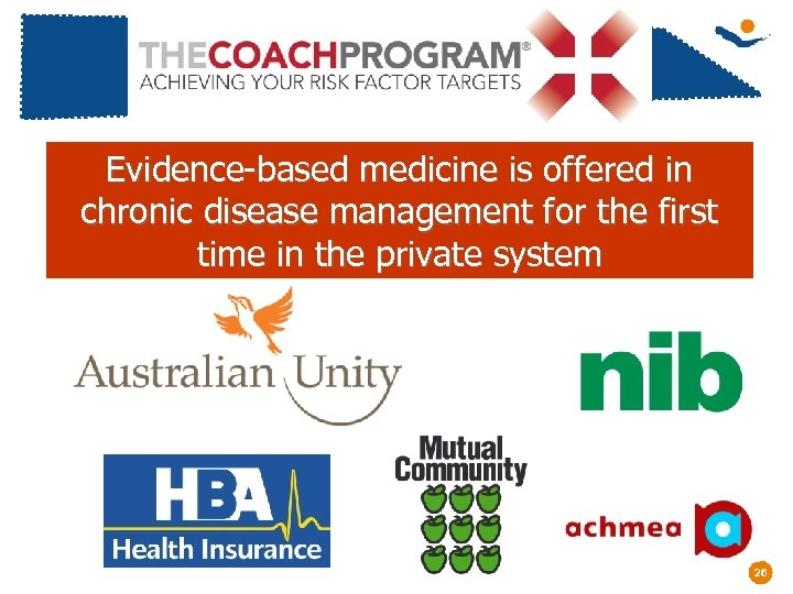 Evidence-based medicine is offered in chronic disease management for the first time in the