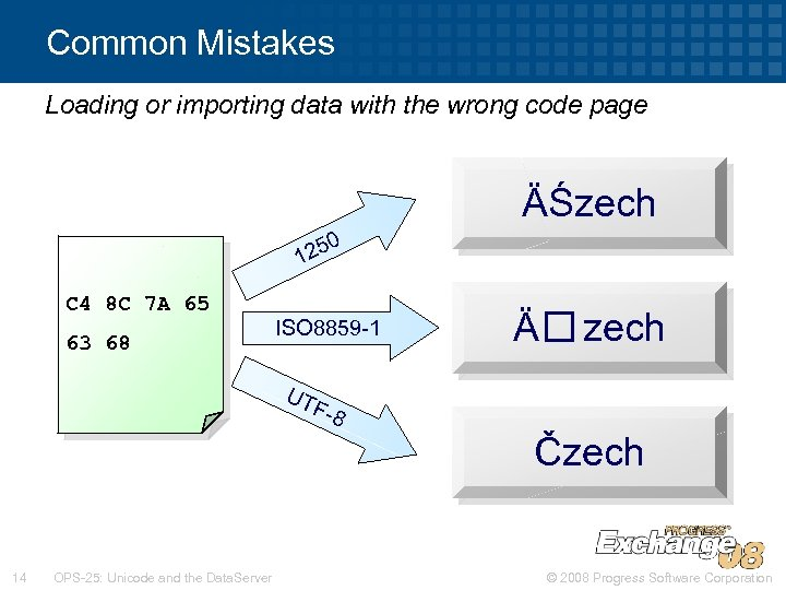 Common Mistakes Loading or importing data with the wrong code page ÄŚzech 0 125