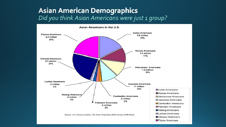 Did you think Asian Americans were just 1 group?