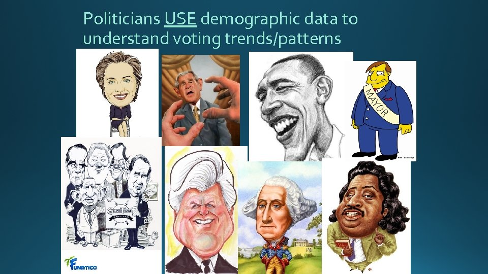 Politicians USE demographic data to understand voting trends/patterns