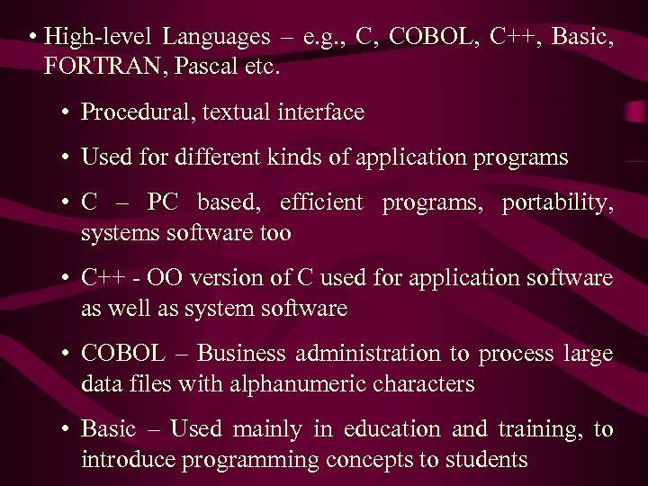 Application Programming Languages Machine Language First
