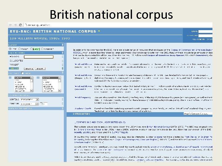 British national corpus