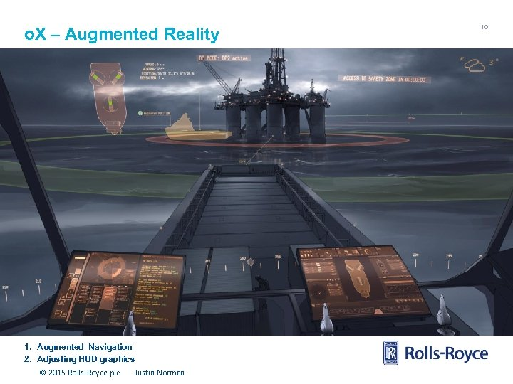 o. X – Augmented Reality 1. Augmented Navigation 2. Adjusting HUD graphics © 2015