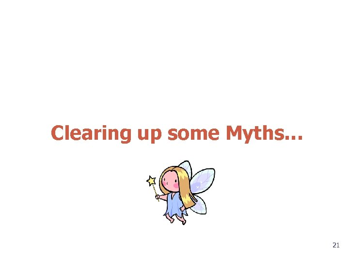 Clearing up some Myths… 21