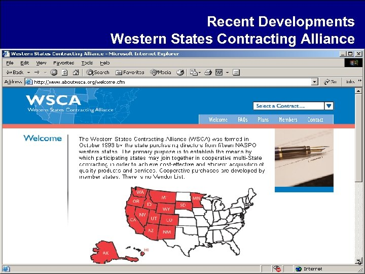 Recent Developments Western States Contracting Alliance 9