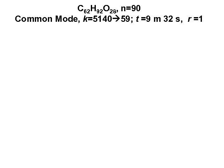 C 62 H 92 O 28, n=90 Common Mode, k=5140 59; t =9 m