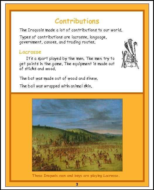 Contributions The Iroquois made a lot of contributions to our world. Types of contributions