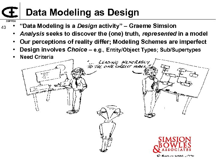 "Data Modeling as Design DBPROJ 43 • • ""Data Modeling is a Design activity"""