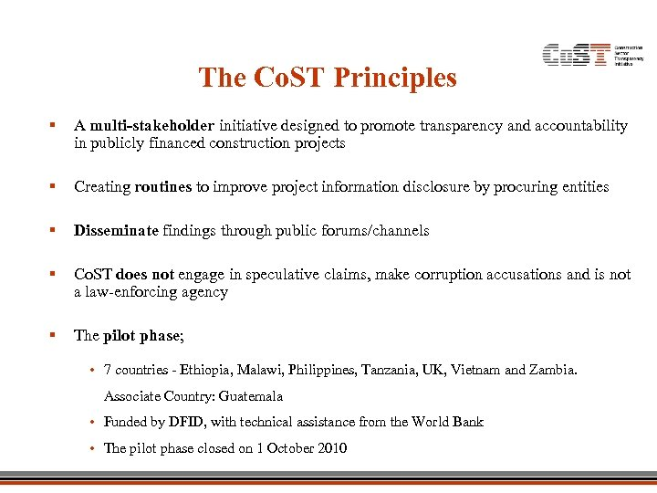 The Co. ST Principles § A multi-stakeholder initiative designed to promote transparency and accountability