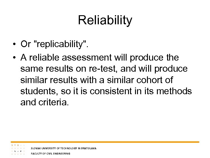 Reliability • Or